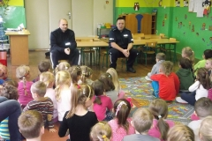 Policjanci w przedszkolu